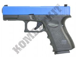 G23 Gas Blowback Airsoft BB Gun Black and Blue